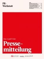 PR Werkstatt – Pressemitteilung